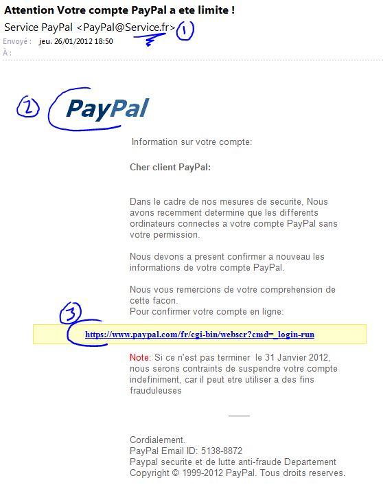 Phishing Paypal, explications