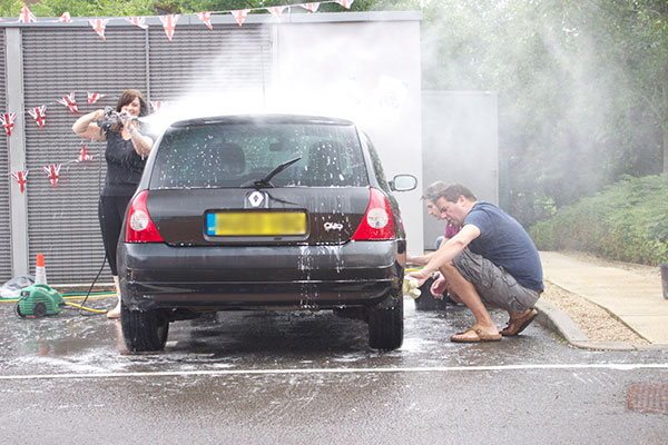 Our team members also raised funds for The Prince's Trust with a car wash.
