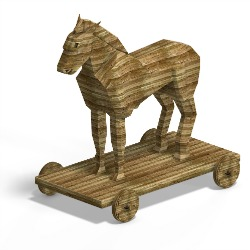 Trojan horse. Image courtesy of Shutterstock