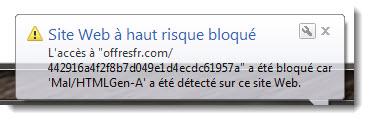 offresfrcom bloqué par Sophos