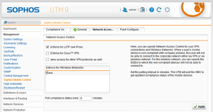 Setting for Network Access Control in the UTM
