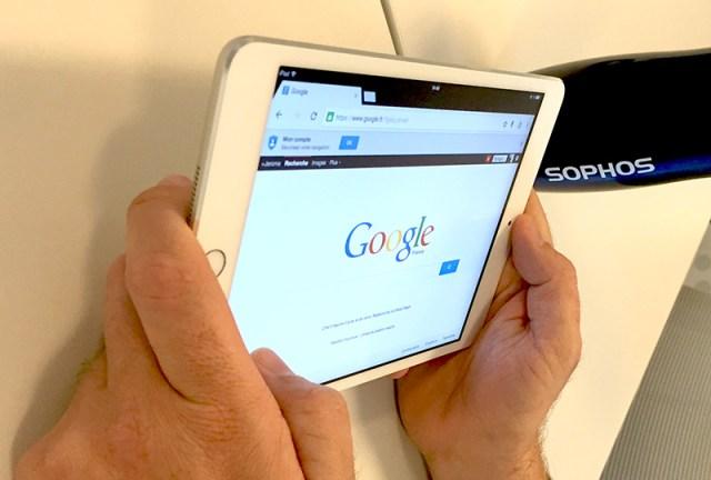 Google affiché sur iPad