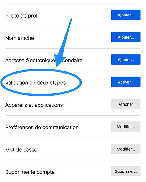 Activer le 2FA Firefox