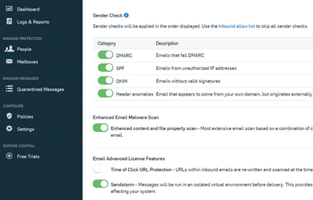 sophos email advanced
