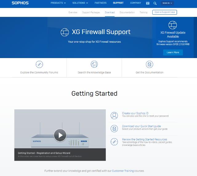 XG Firewall Support