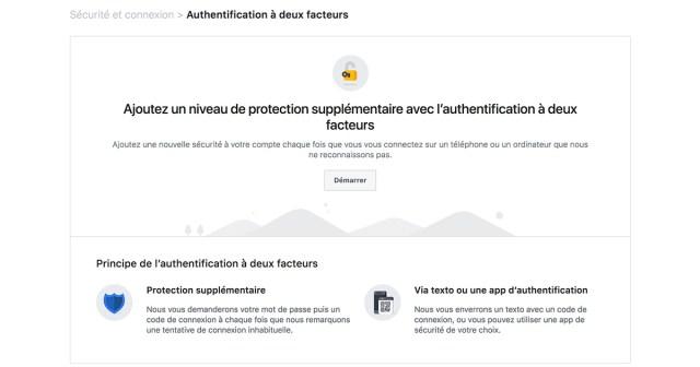 Double authentification Facebook avec Duo