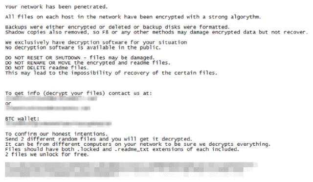 attaques de ransomware