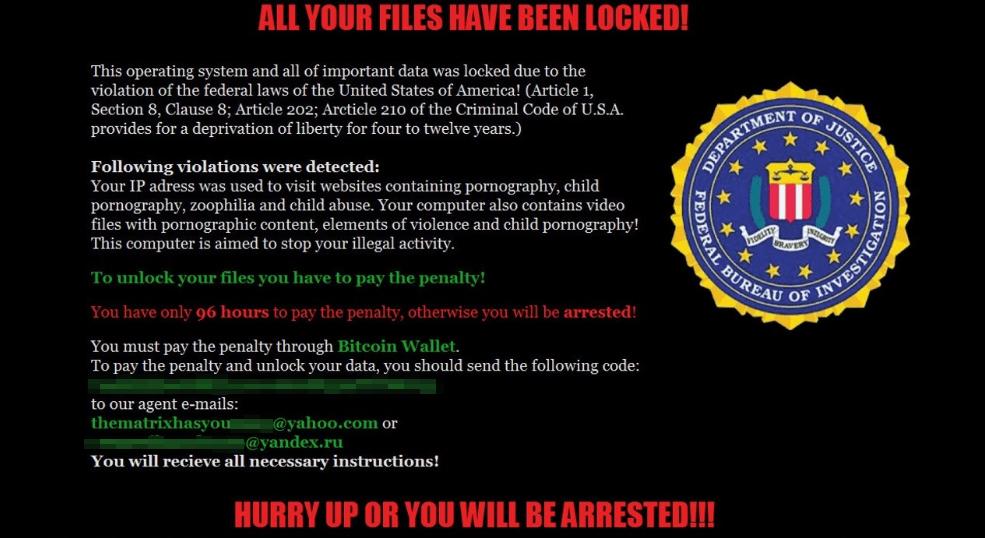 Matrix ransom note