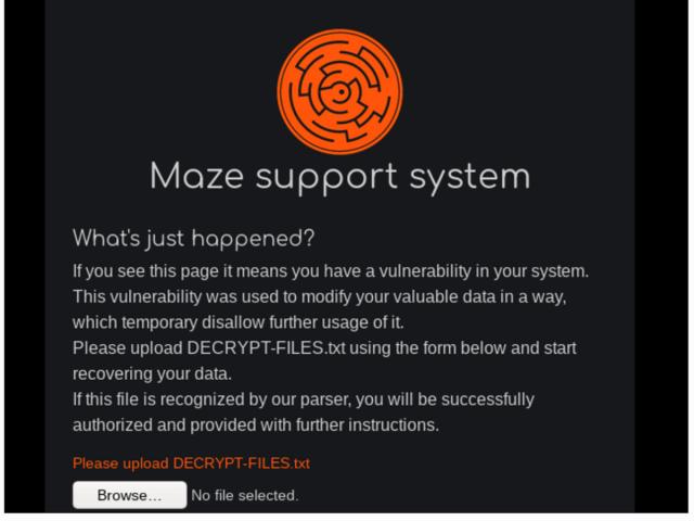 ransomware maze