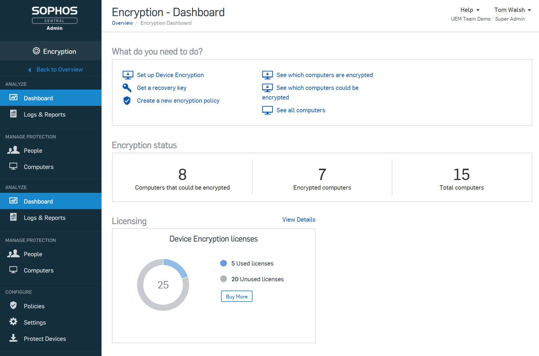 Encryption Dashboard