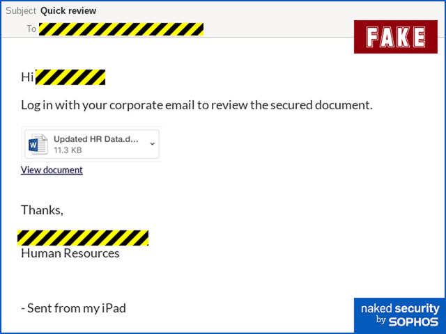 attaques de phishing