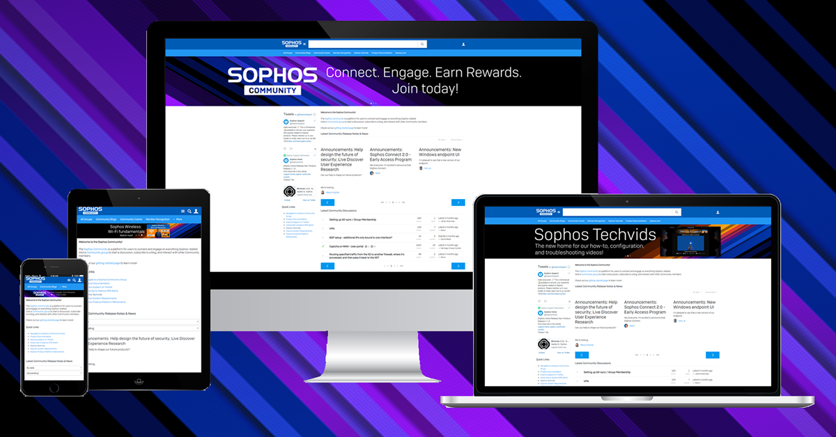 Sophos Community upgrade: Improved navigation, new features, and more