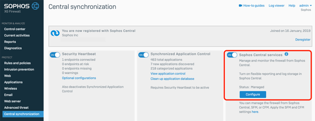 sophos central firewall reporting