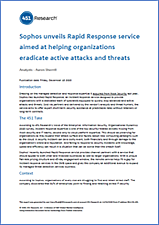 sophos rapid response