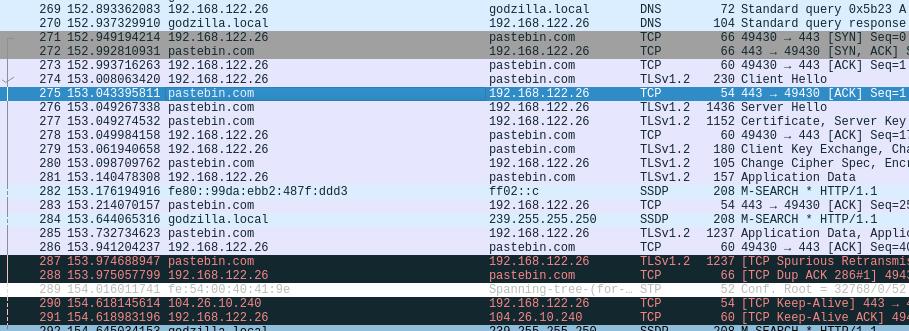 Wireshark screenshot-agenttesla installer