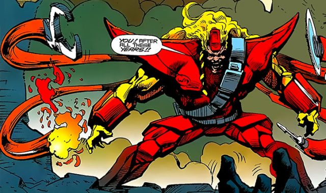 Epsilon Red as he appeared in comic books